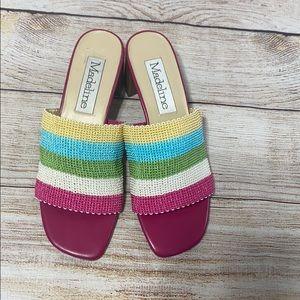 MADELINE Colorful Heel Slip On Sandal